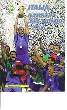 FOLDER FILATELICO ITALIA 2006 - ITALIA CAMPIONI DEL MONDO  2006 -