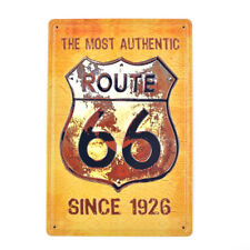 Vintage Tin Metal Signs US Route 66 Since 1929 Pub Bar Decor Art Wall Hanging