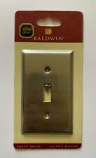 Baldwin Brass Beveled Edge Single Toggle Switch Plate -Satin Nickel