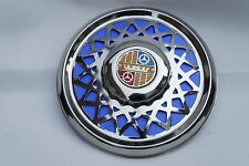 "VESPA Super VBC VBB 8"" Chrome Spare Wheel Cover Trim Blue"