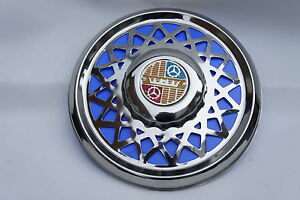 "VESPA Super VBC VBB 8"" Chrome Spare Wheel Cover Trim Blue"