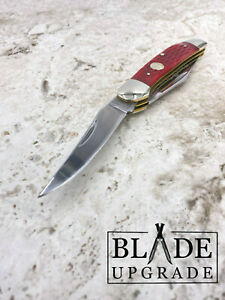 """Boker Copperhead Red Bone Jigged Bone 3.75"""" Pocket Folding Knife 110746"""