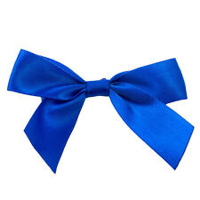 x100 Blue Twist Tie Bows 10.2cm valentines day cake pop decoration fasteners