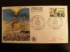 FRANCE PREMIER JOUR FDC YVERT 1018    BALLON POSTAL    12+3F    PARIS  1955