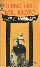 THINK FAST MR MOTO by JOHN P MARQUAND MEDALLION PB 1936 1963