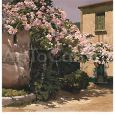 """Image 30""""x30"""" ROSES by POCH ROMEU HAND NUMBERED #253/275 FLORAL w/SIGNATURE S/N"""