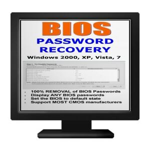 PC Bios Password Recovery Best Ever BOOT Disc Viewer CD XP Vista 7 10 easy use