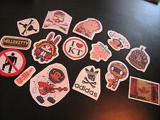 SET 5: LOT de 15 Stickers déco voiture ordinateur guitare moto meubles téléphone