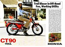 1976 HONDA CT90K7 Trail 2 page Motorcycle Brochure NOS