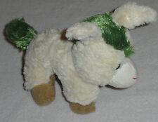 "Tony Toy Plush Cream Tan Green Mule Donkey 8"" Off White Soft Stuffed"