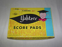 VINTAGE GAME 1972  E S LOWE YAHTZEE SCORE PADS