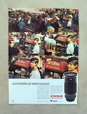 D930 - Advertising Pubblicità -1988- KIRON OTTICHE UNIVERSALI , 28/210 OBIETTIVO