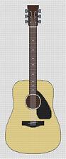Acoustic Guitar Cross Stitch Kit