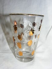 Vintage Hall Autumn Leaf Jewel T10 Oz Tumbler Libbey Glass Gold Leaf 1958