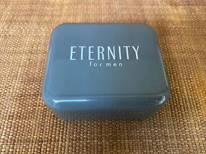 Calvin Klein Eternity For Man Plastic Grey Logo Soap Dish Travel Case
