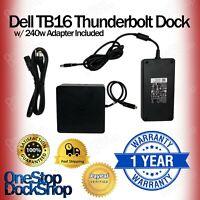 Dell TB16 Thunderbolt Laptop Docking Station w/ 240W Adapter