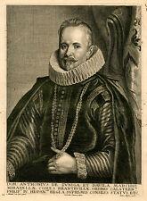 Portrait: Anthonius de zuniga et Davila. - cuivre clés/waumans/van Dijck, C. 1650
