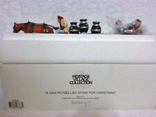 Dept 56 Heritage Village A New Potbellied Stove for Christmas Set of 2 - 56593