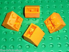 4 x LEGO Orange Slope Brick ref 3660 / Set 6575 7171 3731 8968 6520 8496 4997...