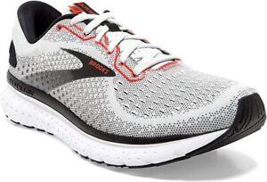 Brooks Men's Glycerin 18 Running Shoe, Grey/Black/Red, 10 D(M) US