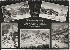 Ansichtskarte Oberjoch -  Iseler Abfahrt, Jochstraße, Oberjoch - schwarz/weiß