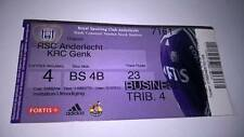 TICKET : RSC ANDERLECHT - KRC GENK 2008-2009 BUSINESS SEAT