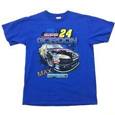 Chasse Jeff Gordon 24 T-Shirt Bleu Manches Courtes Double Faces Impala Stock Car