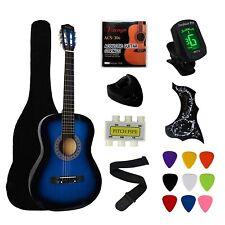 Acoustic Guitar Beginner Bundle Easy Learning Electronic Tuner Starter Package