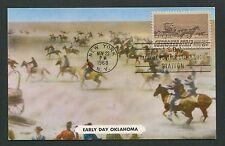 USA MK 1968 CHEROKEE STRIP PFERD HORSE COWBOY CARTE MAXIMUM CARD MC CM d6212