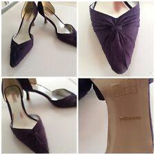 Jacques Vert Bramble Púrpura Nudo Diseño Zapato S38 En Perfecto Estado Vestido Facinator Extra