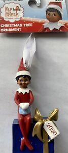 Elf On The Shelf Christmas Ornament 2020 Figurine Sitting On Gift Present