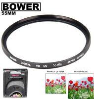 Bower 55mm UV Filter For Nikon D5600 D3500 D3500 D3400 w/ AF-P DX 18-55mm  Lens