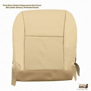 For 2010-2015 Lexus RX350 RX450h -Driver Side Bottom Leather Seat Cover Tan