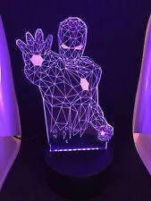 3D Led Night Light Desktop Iron Man 7 Color