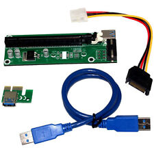 USB PCI-E Express 1x to16x Extender Riser Board Card Adapter SATA Cable Wire
