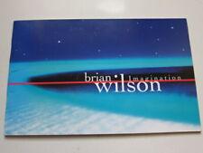 Brian Wilson Imagination 1998 promo booklet 12 pgs