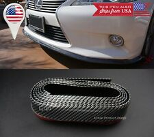 "1.3"" Carbon Fiber Look EZ Fit Bumper Lip Splitter Chin Splitter For Mazda Subaru"