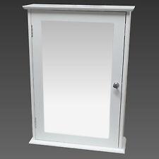 armadietto da bagno parete singola anta a specchio armadio in legno bianco ripia