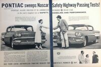 1958 Pontiac NASCAR Vintage Advertisement Print Art Car Ad Poster LG79
