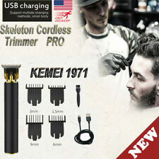2020 Kemei 1971 Pro Carving Skeleton Cordless Trimmer Hair Clipper Machine US