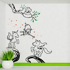 Feen Und Einhörner Wand Abziehbild Kunst Fairy Thema Kinder Schlafzimmer Mädchen