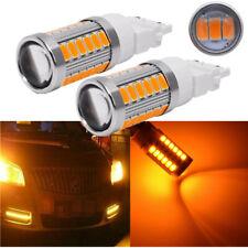 2x Amber 3157 1157 33 LED DRL Switchback Turn Signal Parking Light Bulbs 5630SMD