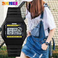 SKMEI Sports Watch Women Female Digital Chrono Waterproof LED Wristwatch 1413 B