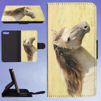 HORSE ANIMAL FLIP WALLET CASE FOR APPLE IPHONE PHONES