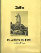 Klöster im Landkreis Göttingen H. Lücke 1961 Rheinhausen Weende Mariengarten..
