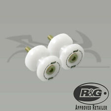 R&G RACING PAIR M8 WHITE COTTON REELS BOBBINS SUZUKI GSXR1000 L3-L4 2013-2014