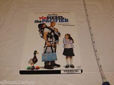 Vin Diesel Pacifier RARE movie mini POSTER collector backer card 8x5.5 plastic