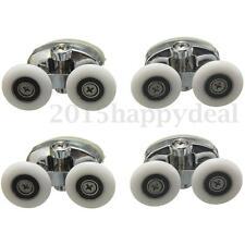 4x Twin Shower Glass Door Top Zinc Alloy Rollers Runners Pulleys Wheels 25mm