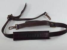 Hartmann Luggage Replacement Dark Brown Leather Shoulder Strap