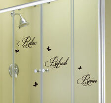 Pegatinas y plantillas de pared vinilos color principal negro para el baño